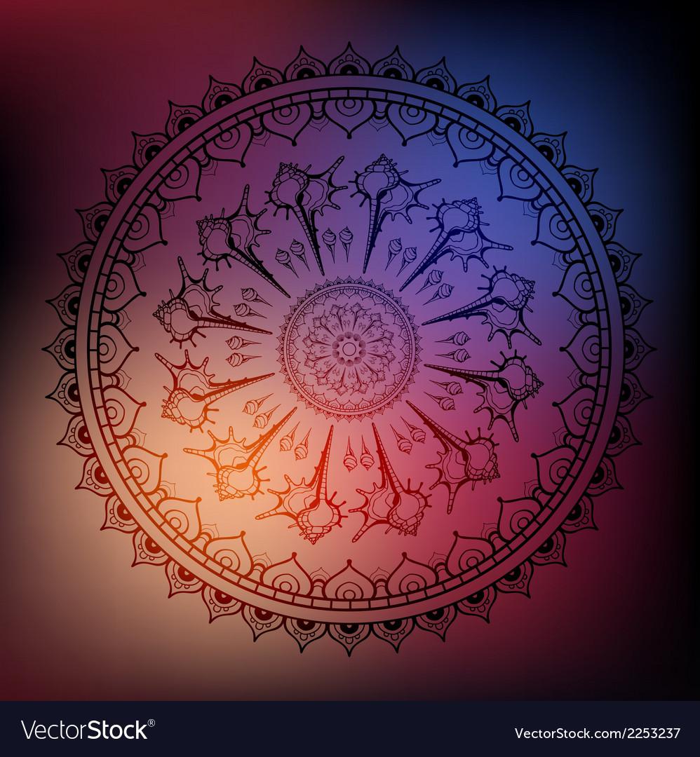 Mandala sea background vector   Price: 1 Credit (USD $1)