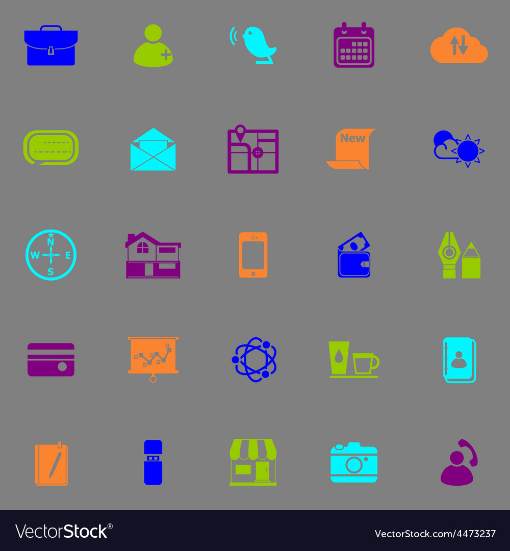 Mobile fluorescent color icons vector | Price: 1 Credit (USD $1)