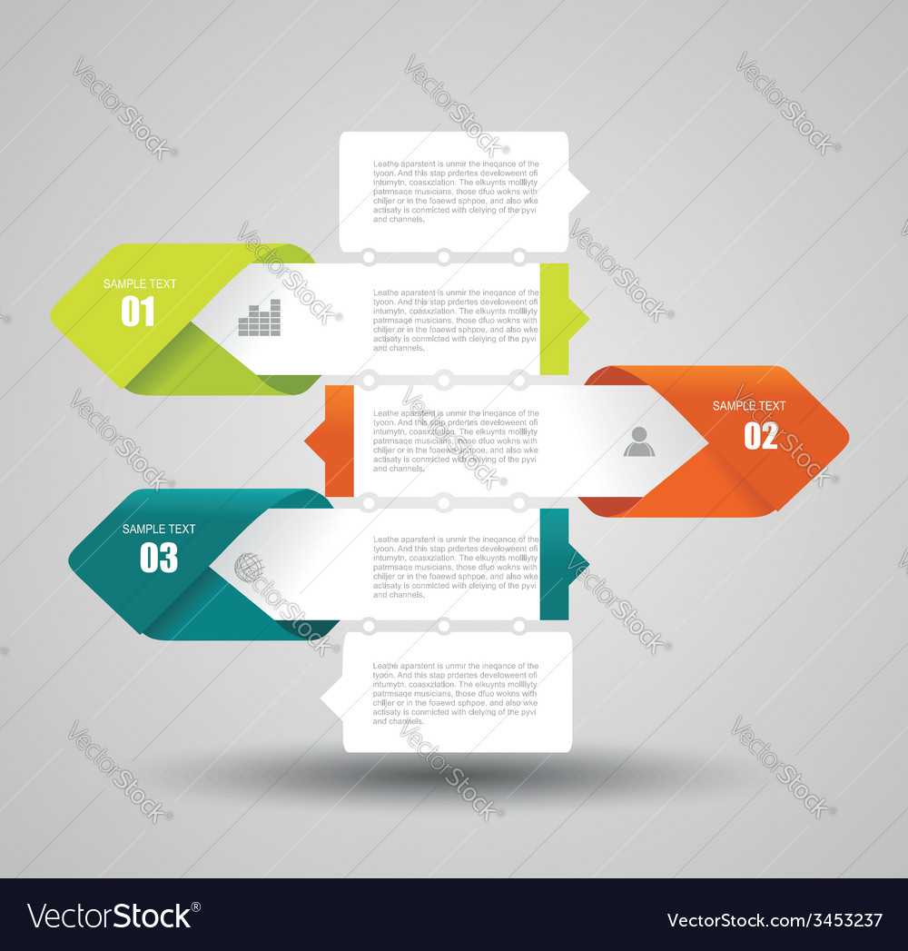 Modern design layout - paper progress steps vector | Price: 1 Credit (USD $1)