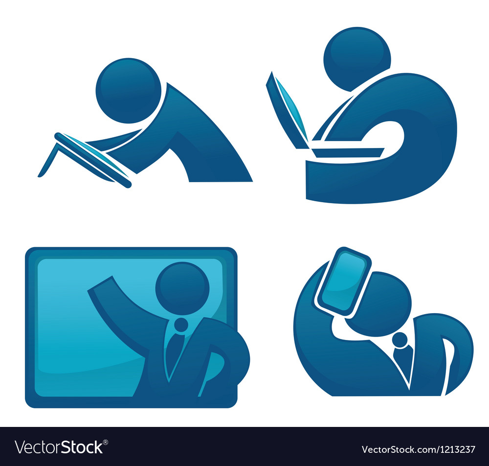 Office life and modern technology vector | Price: 1 Credit (USD $1)