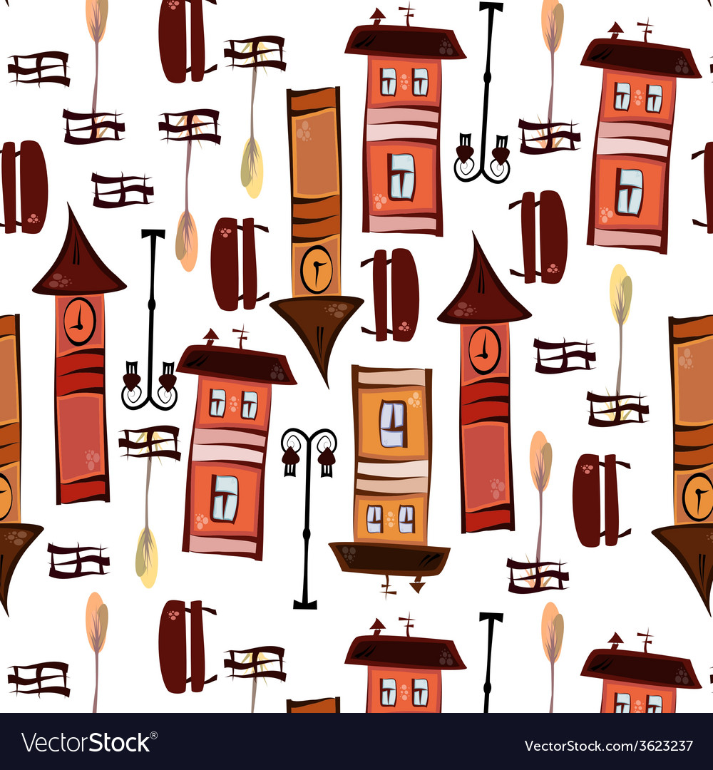 Pattern of elements of the old town vector   Price: 1 Credit (USD $1)
