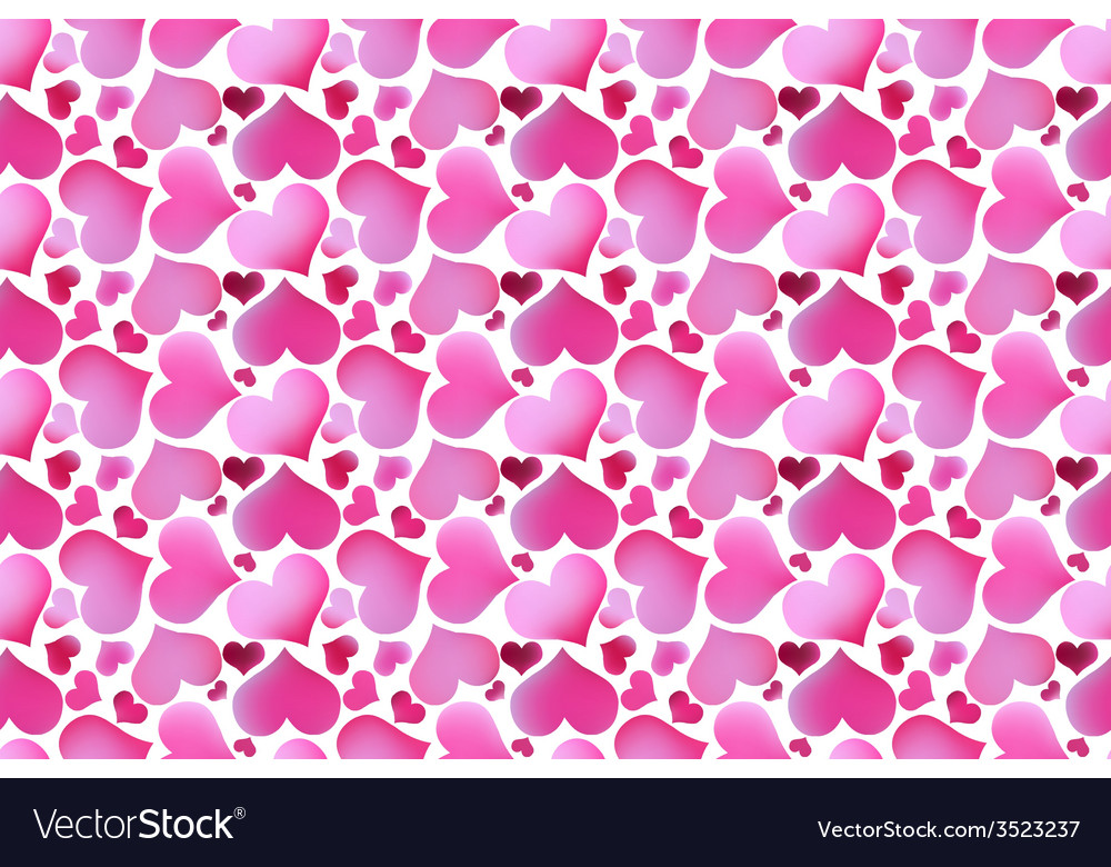 Retro valentine seamless pattern with hearts vector | Price: 1 Credit (USD $1)