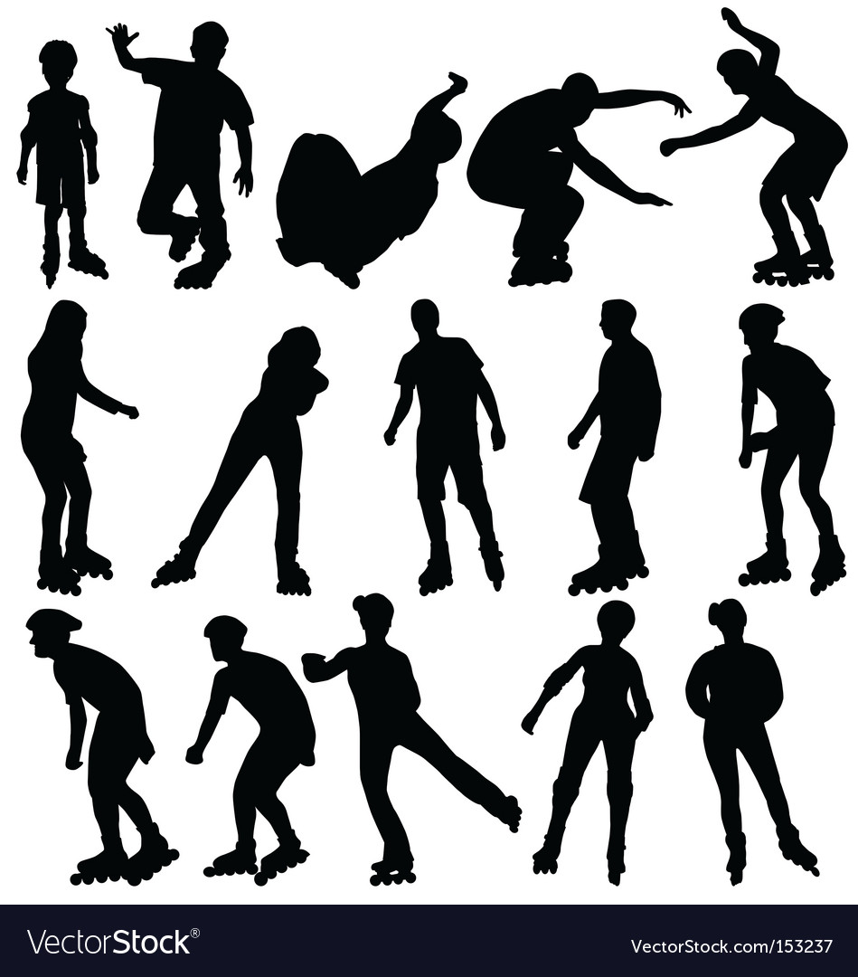 Rollerblade silhouettes vector | Price: 1 Credit (USD $1)