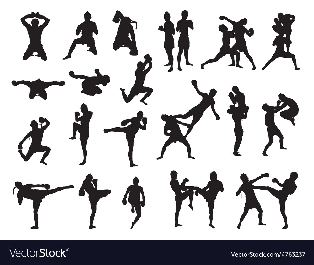 Thai boxing fight traditional dance before fight vector   Price: 1 Credit (USD $1)