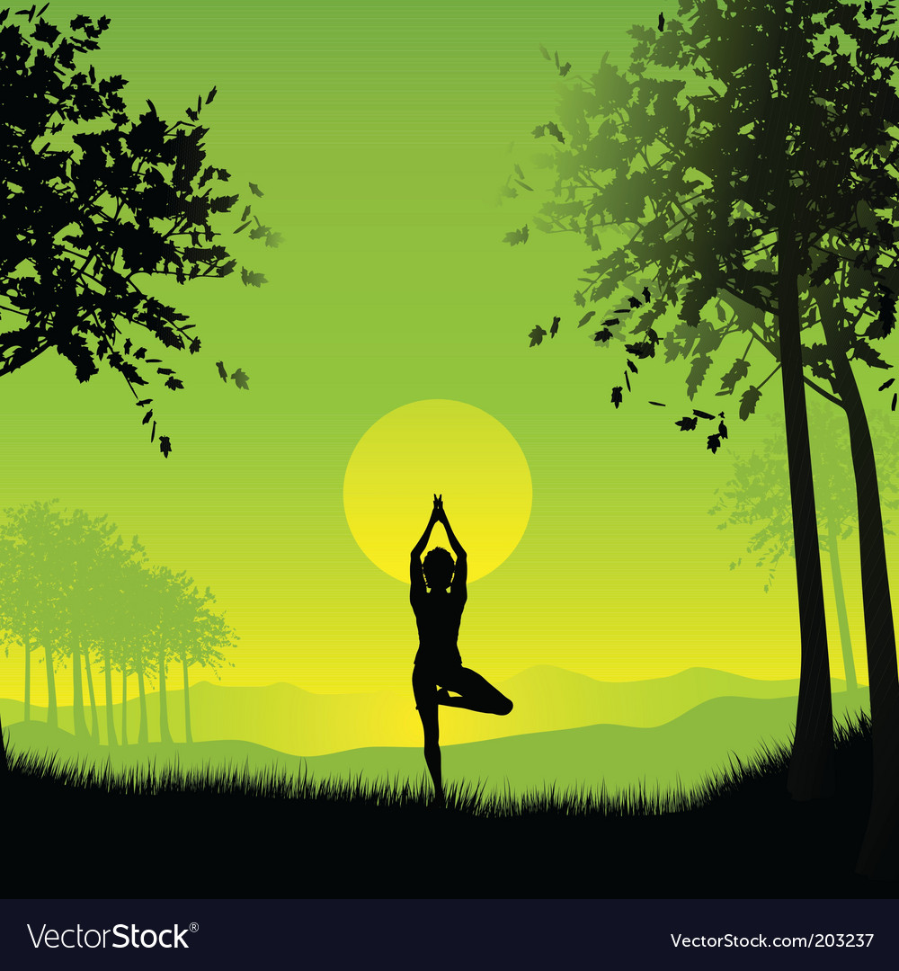 Yoga girl vector | Price: 1 Credit (USD $1)