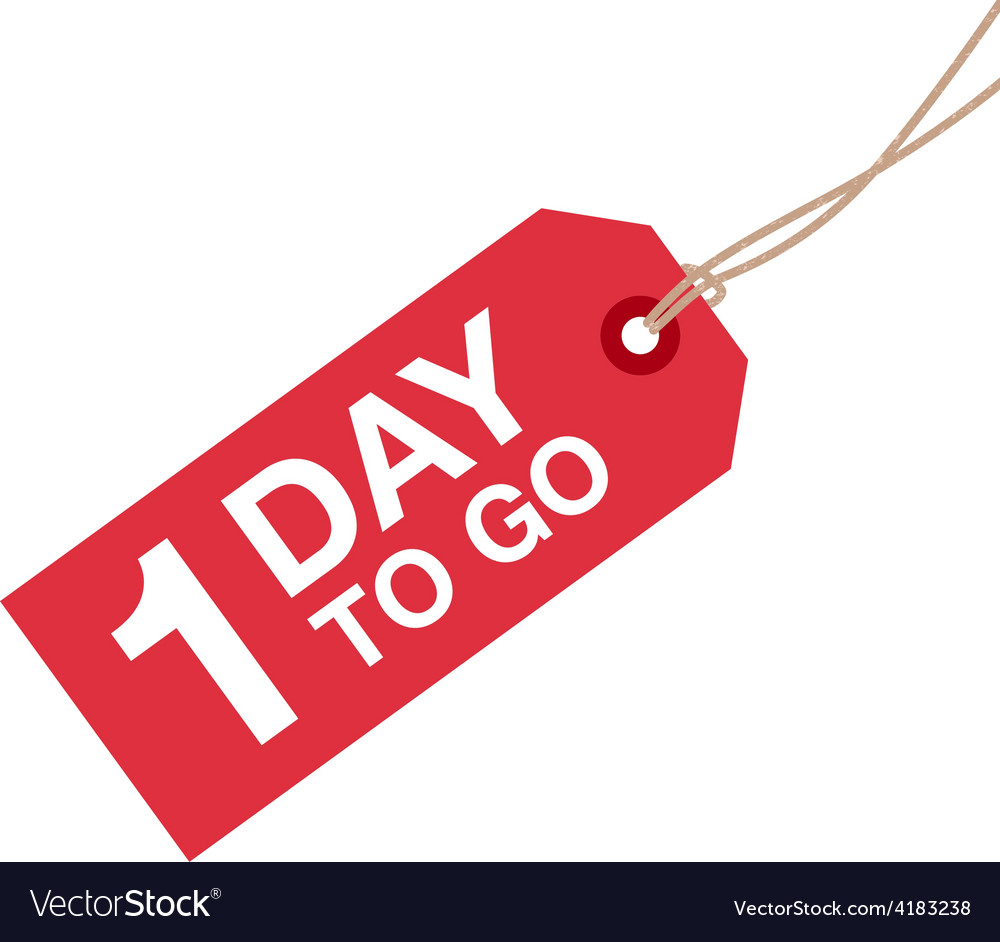 1 day to go sign vector | Price: 1 Credit (USD $1)