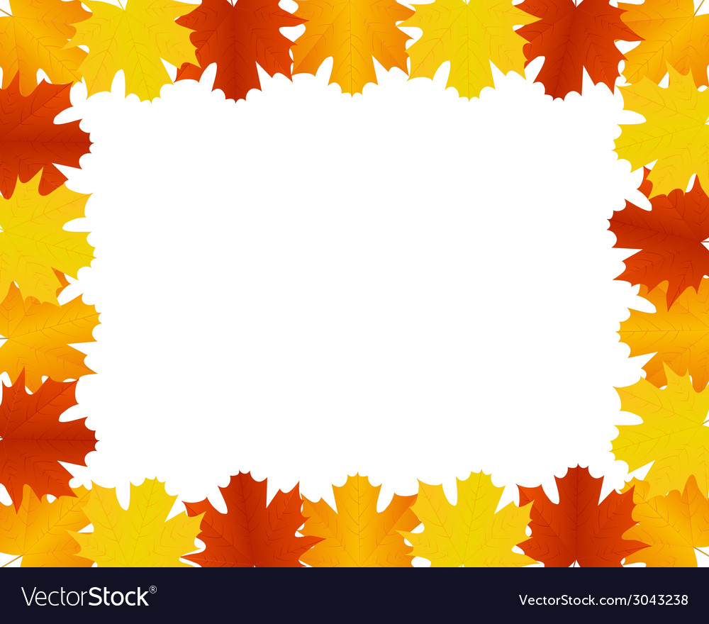 Autumn leaves border vector | Price: 1 Credit (USD $1)