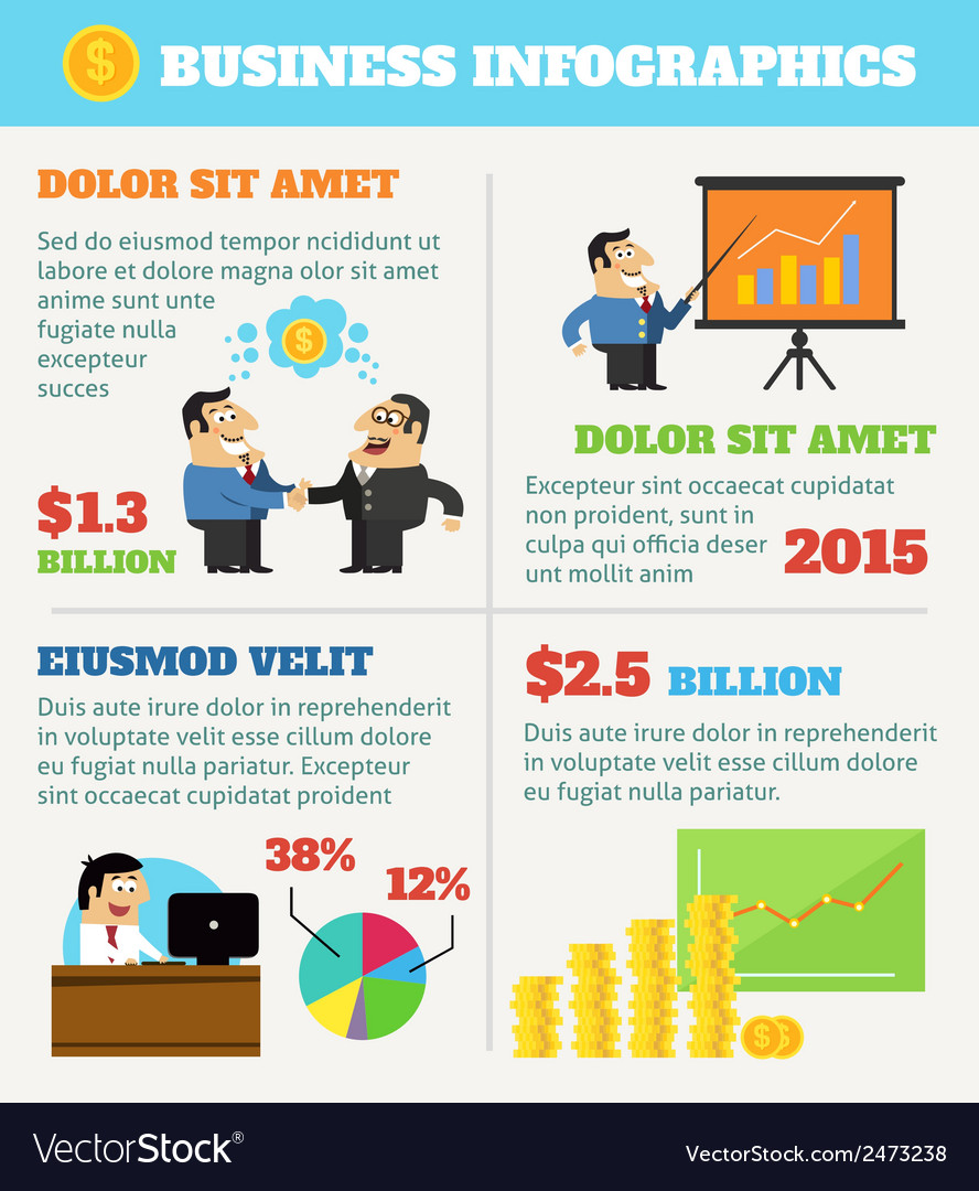 Business life infographics vector | Price: 1 Credit (USD $1)