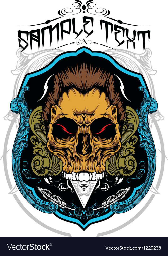 Decorative skull vector | Price: 3 Credit (USD $3)