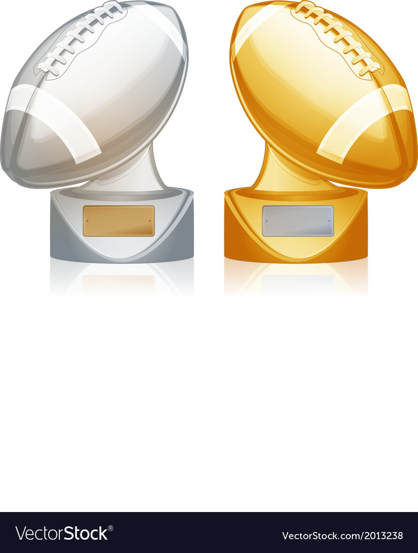 Football trophies vector | Price: 1 Credit (USD $1)