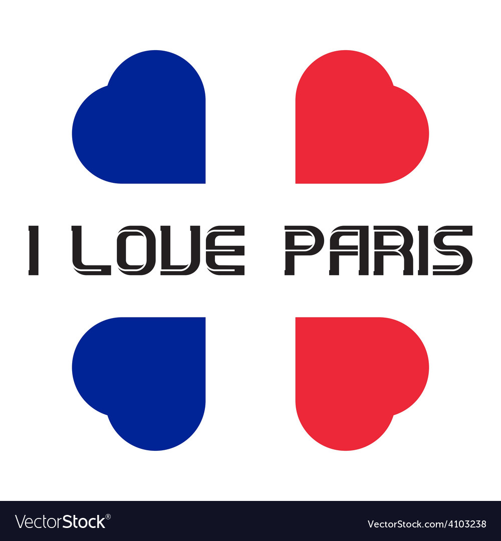 I love paris t-shirt templates with hearts vector | Price: 1 Credit (USD $1)
