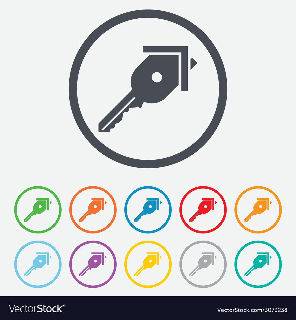 Key from the house sign icon unlock tool vector   Price: 1 Credit (USD $1)