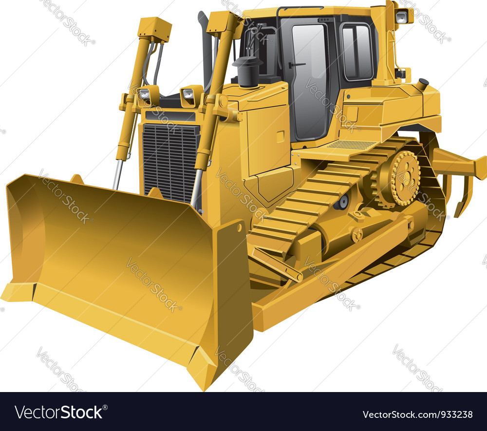Light brown dozer vector | Price: 5 Credit (USD $5)