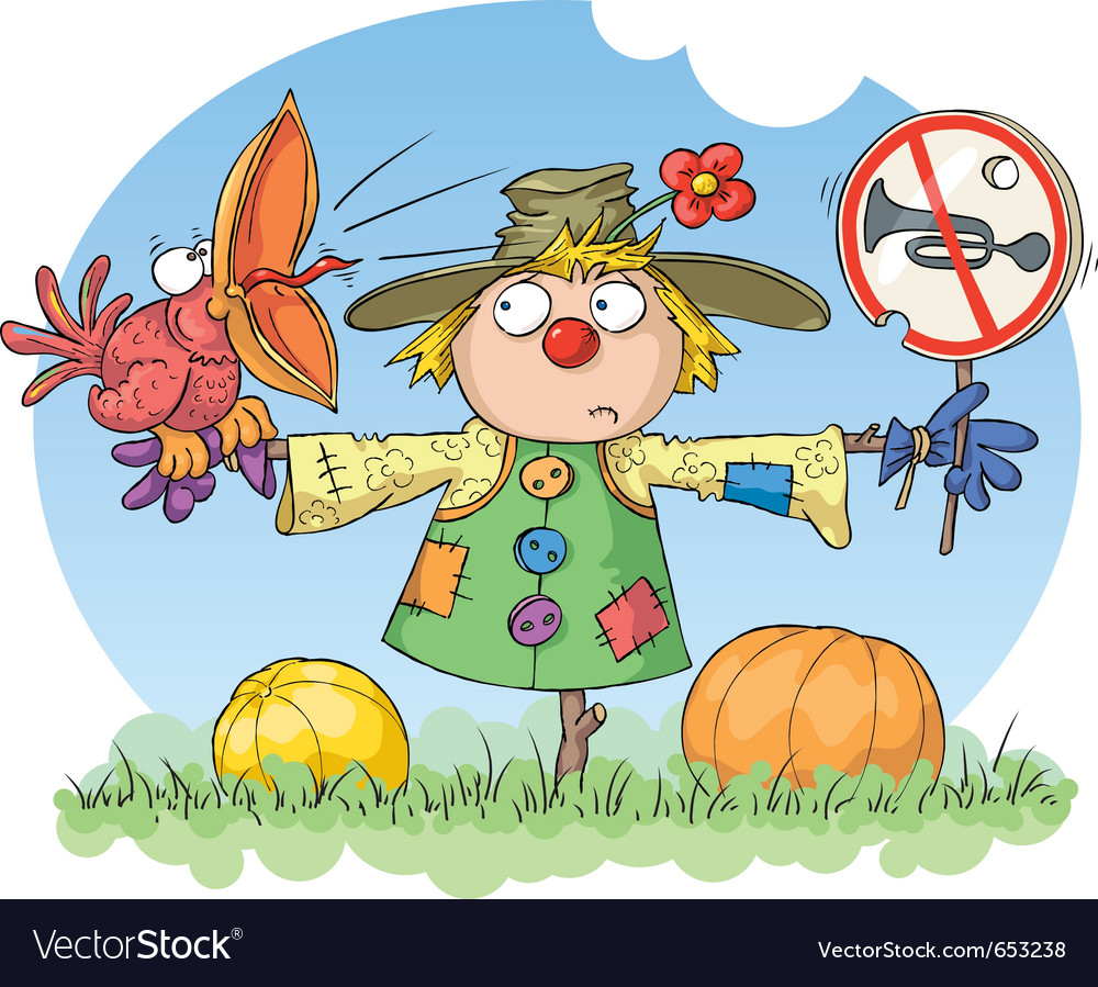 Scarecrow - noise prohibited vector | Price: 3 Credit (USD $3)