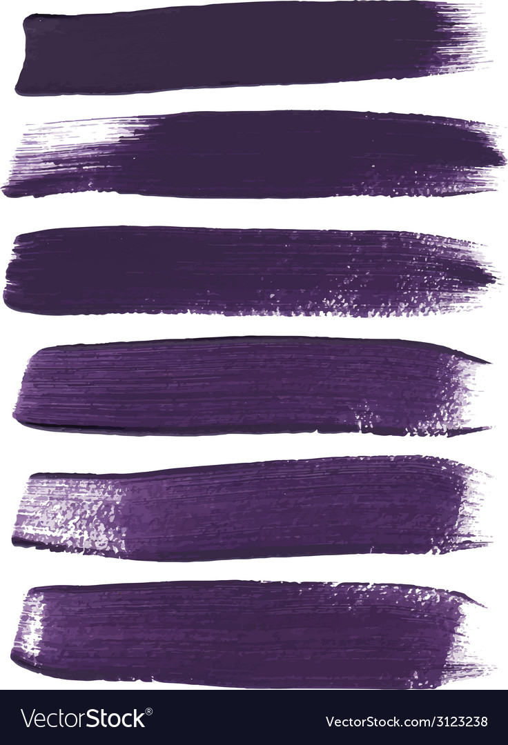 Violet ink brush strokes vector | Price: 1 Credit (USD $1)