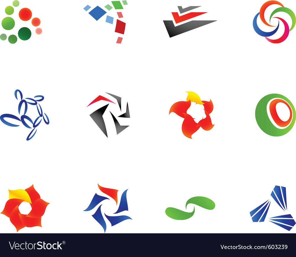 12 colorful symbols set 10 vector | Price: 1 Credit (USD $1)