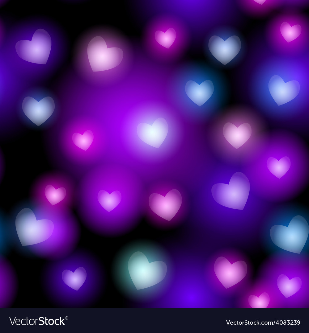 Abstract seamless pattern with neon hearts on vector | Price: 1 Credit (USD $1)