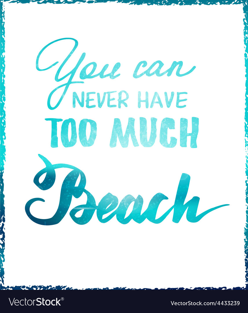 Bright summer motivational poster about beach vector | Price: 1 Credit (USD $1)