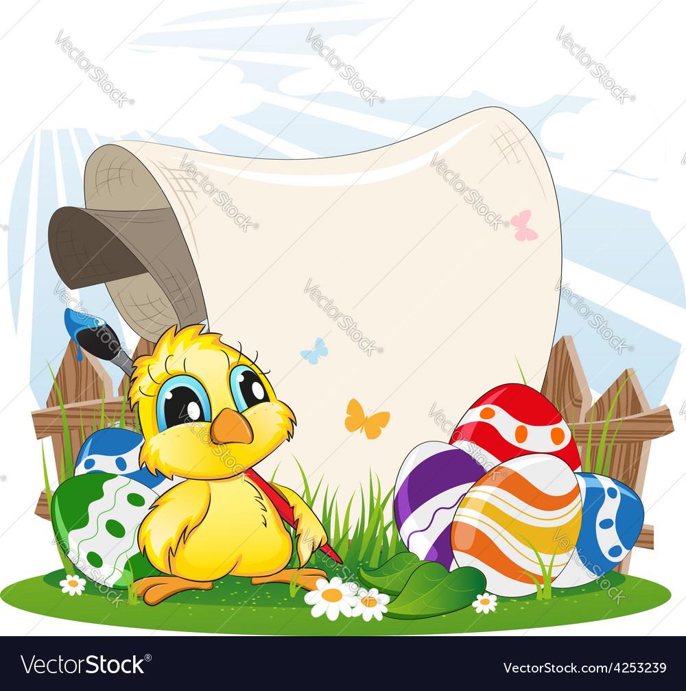 Cartoon chicken vector | Price: 3 Credit (USD $3)