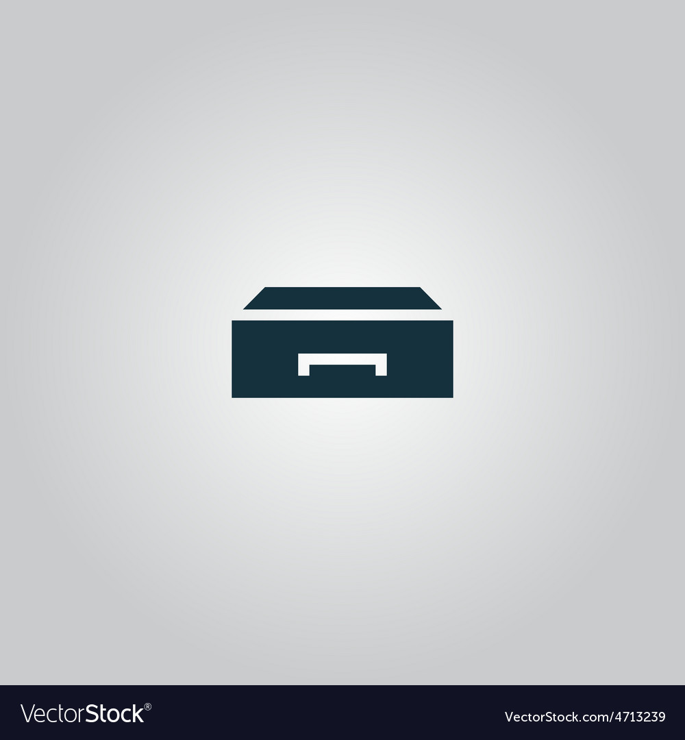 Drawer icon vector   Price: 1 Credit (USD $1)