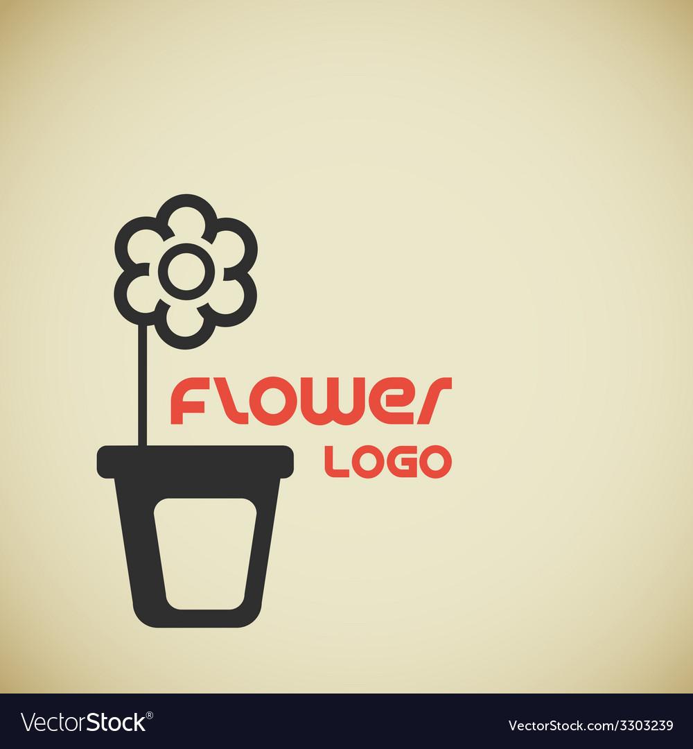 Flower logo vector | Price: 1 Credit (USD $1)