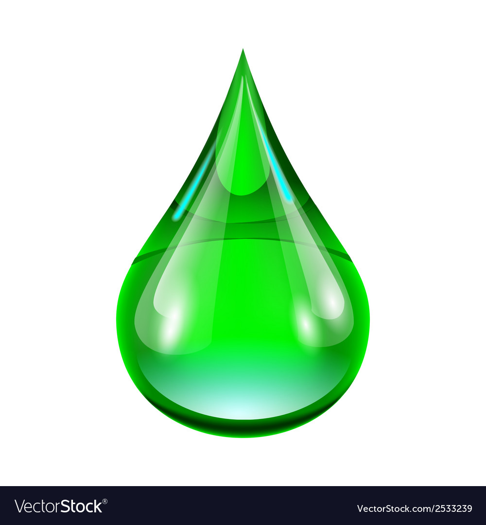 Green drop vector | Price: 1 Credit (USD $1)
