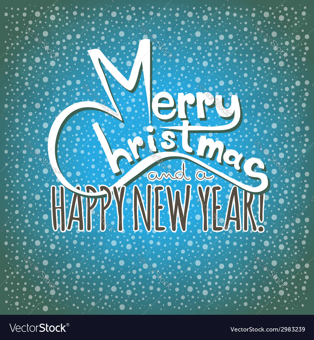 Merry christmas and a happy new year postcard vector | Price: 1 Credit (USD $1)