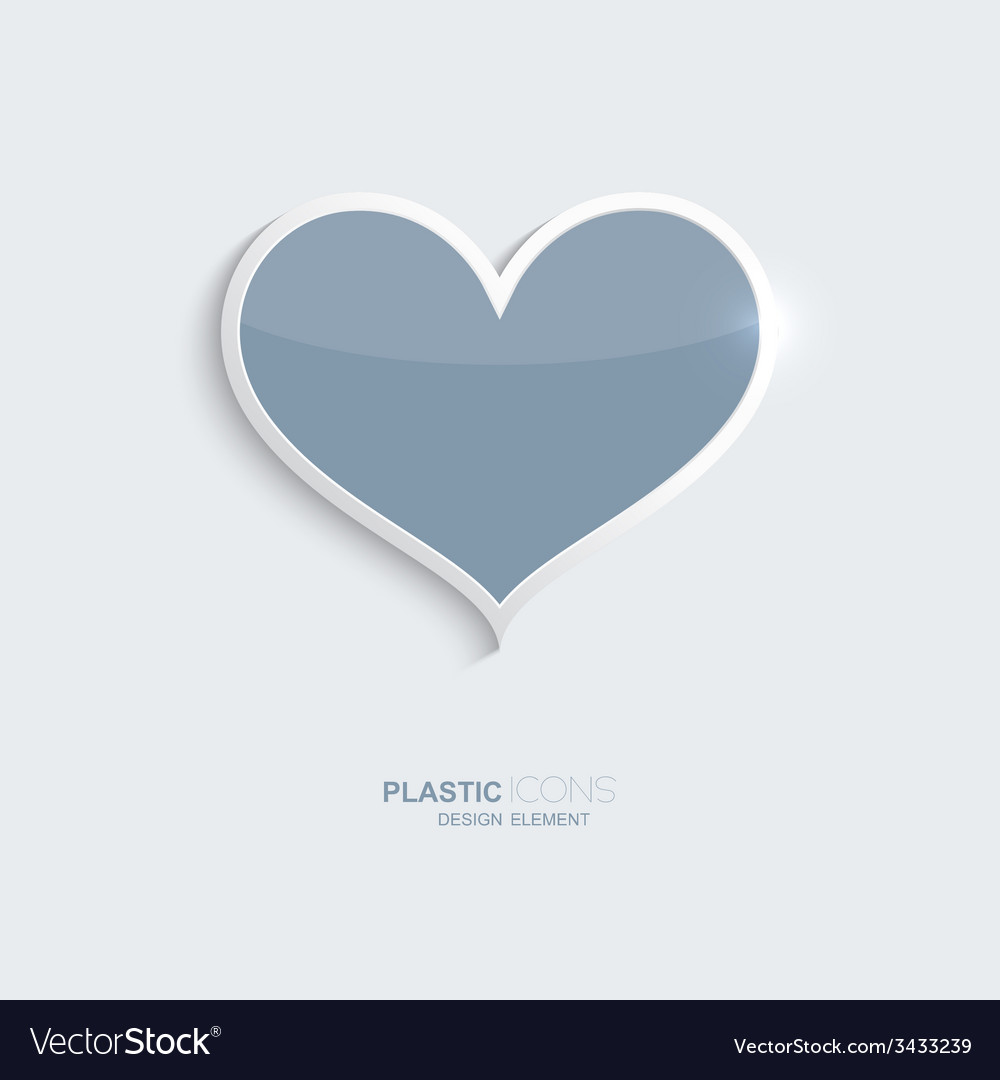 Plastic icon heart symbol vector | Price: 1 Credit (USD $1)