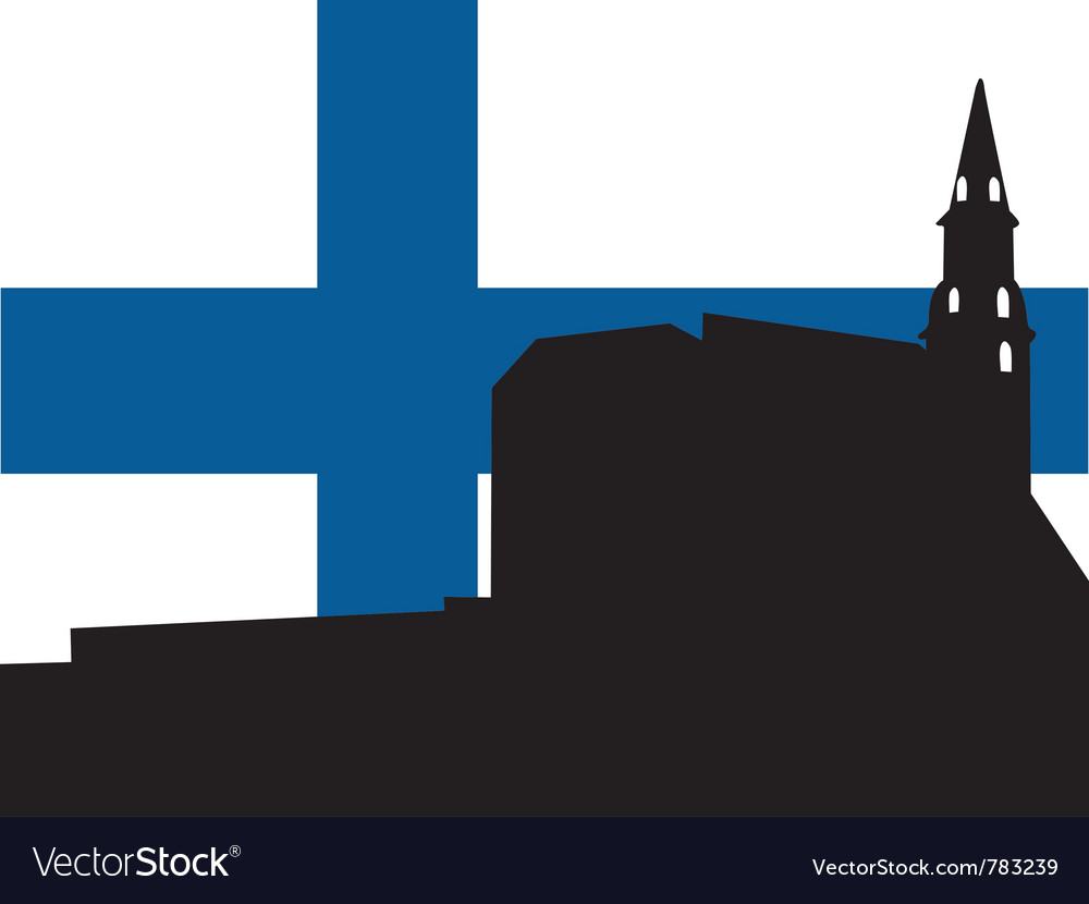Silhouette of helsinki vector | Price: 1 Credit (USD $1)