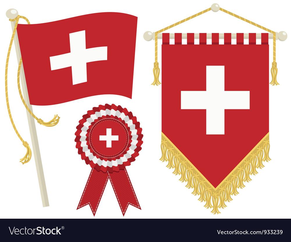 Switzerland flags vector | Price: 1 Credit (USD $1)