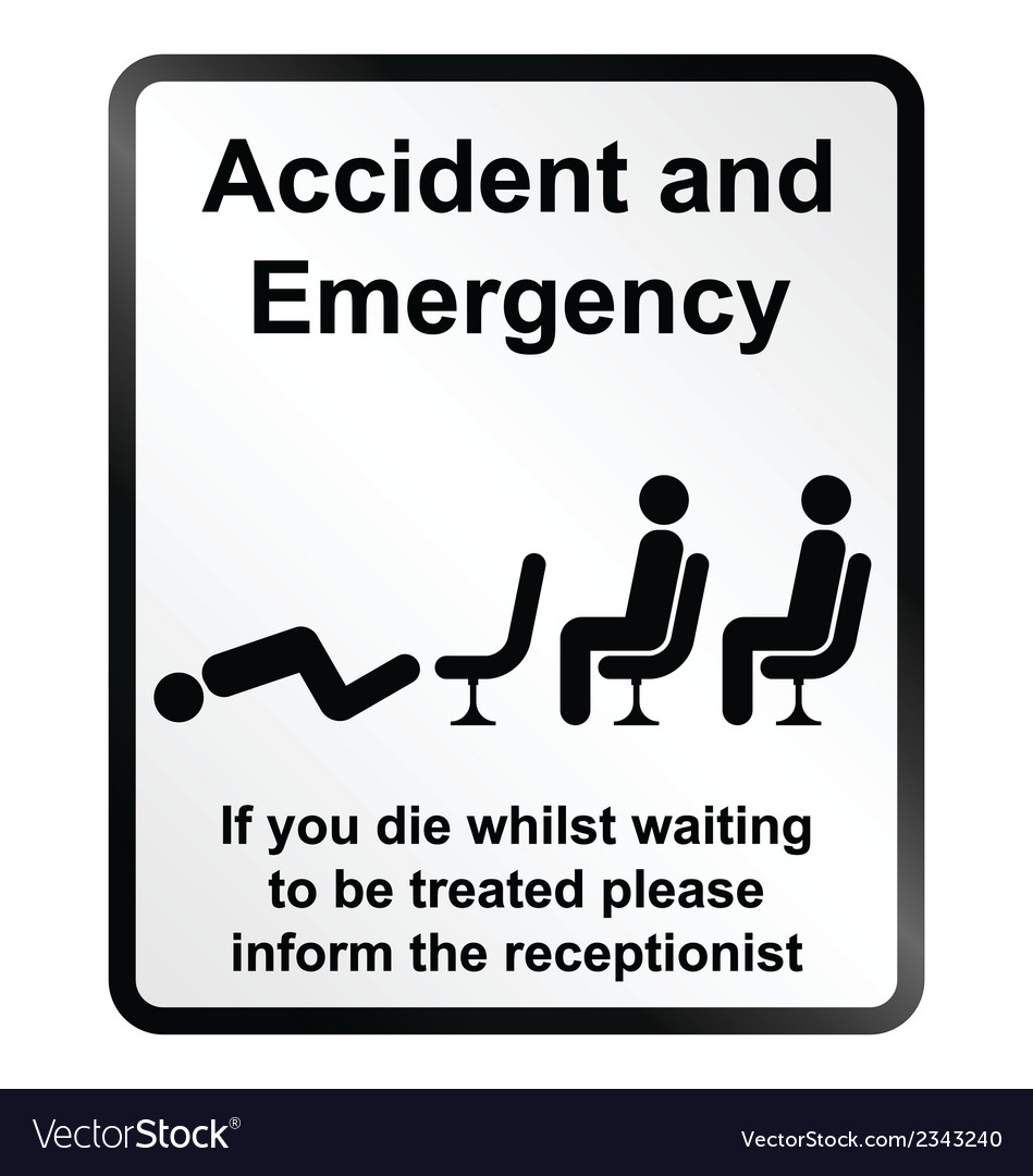 Accident and emergency information sign vector | Price: 1 Credit (USD $1)