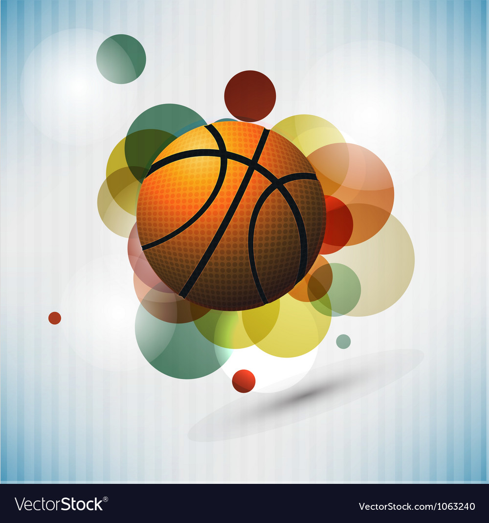 Basketball advertising poster vector | Price: 1 Credit (USD $1)