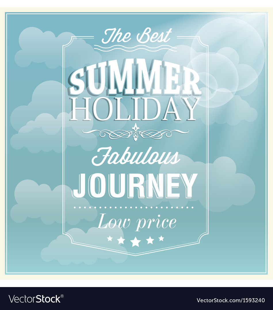 The best summer holiday typography card design vector | Price: 1 Credit (USD $1)
