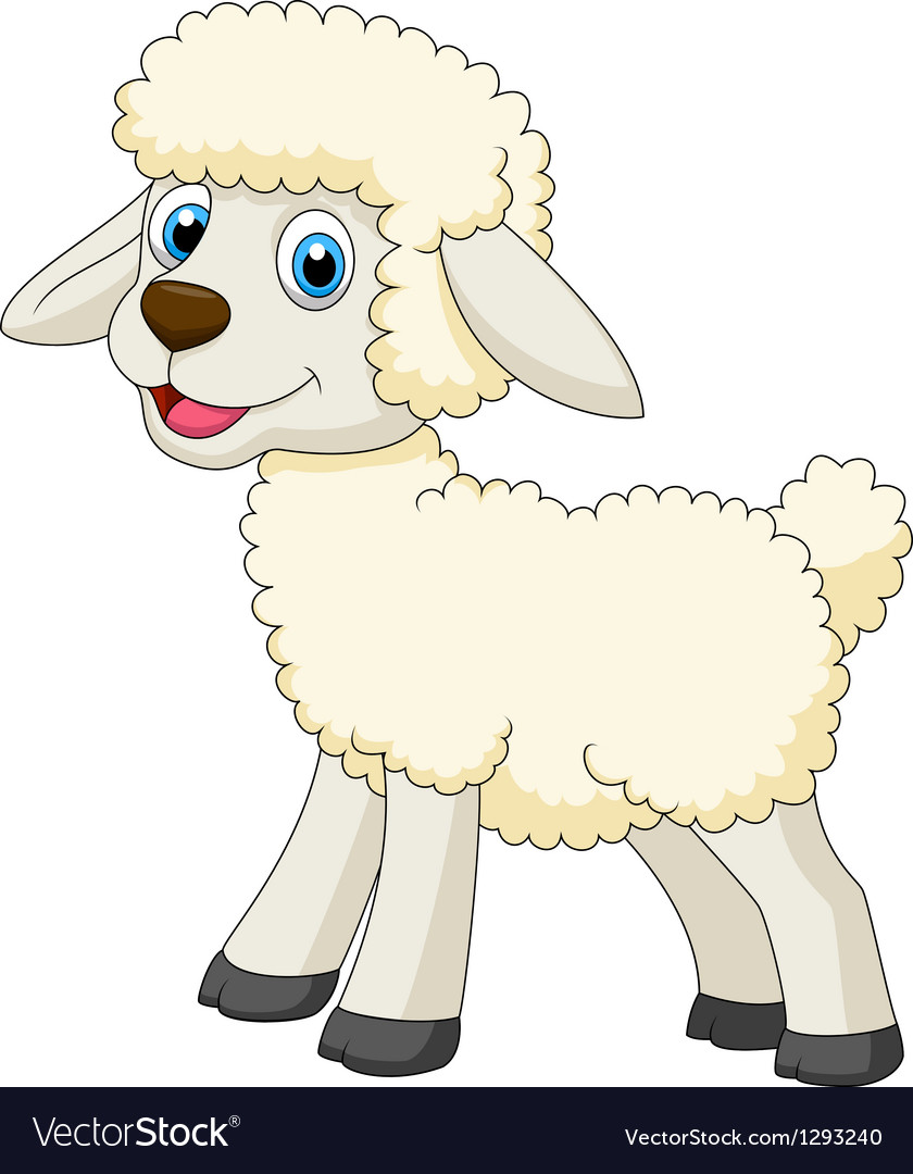 Cute sheep cartoon vector | Price: 1 Credit (USD $1)