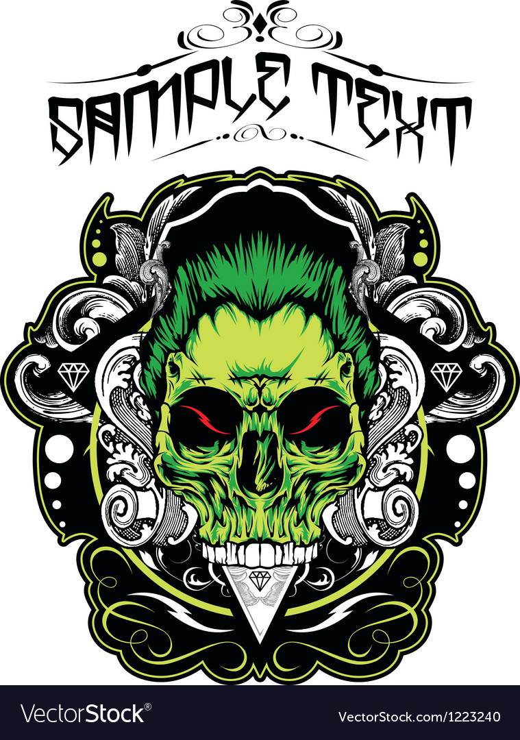 Decorative skull vector   Price: 3 Credit (USD $3)