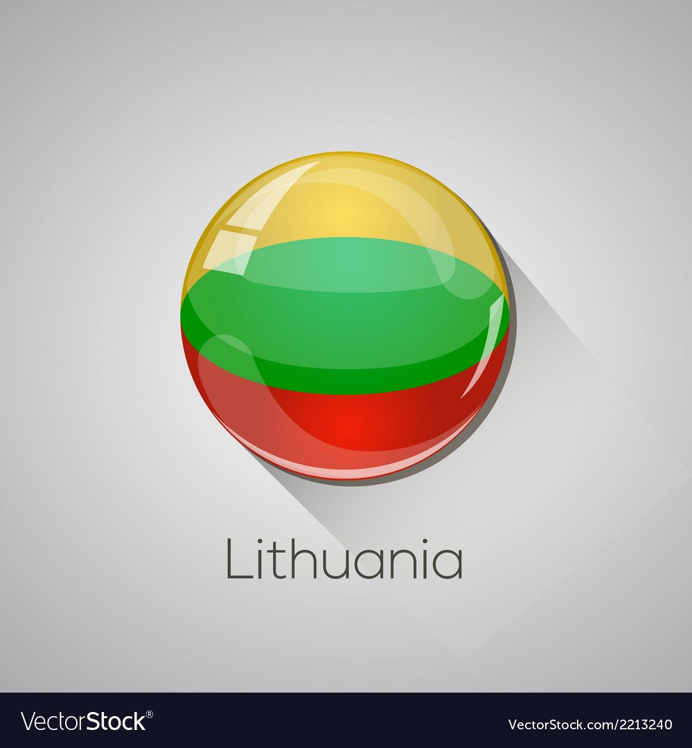 European flags set - lithuania vector | Price: 1 Credit (USD $1)