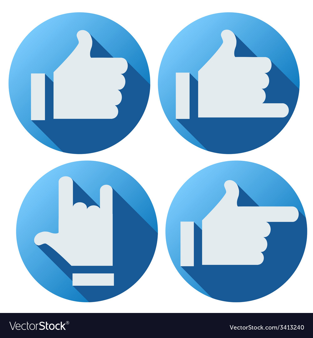 Flat style of like button for social networking vector | Price: 1 Credit (USD $1)