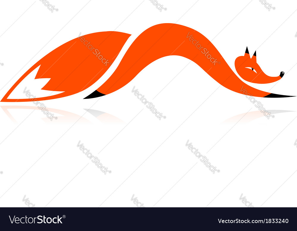 Fox silhouette for your design vector | Price: 1 Credit (USD $1)