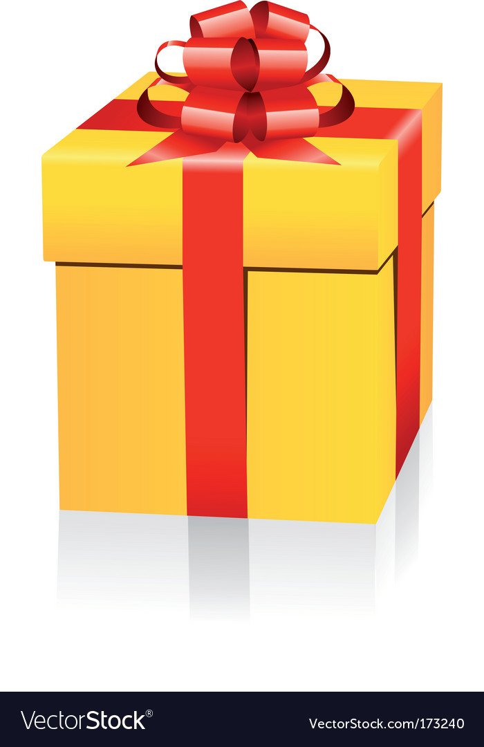 Gold gift box vector | Price: 1 Credit (USD $1)