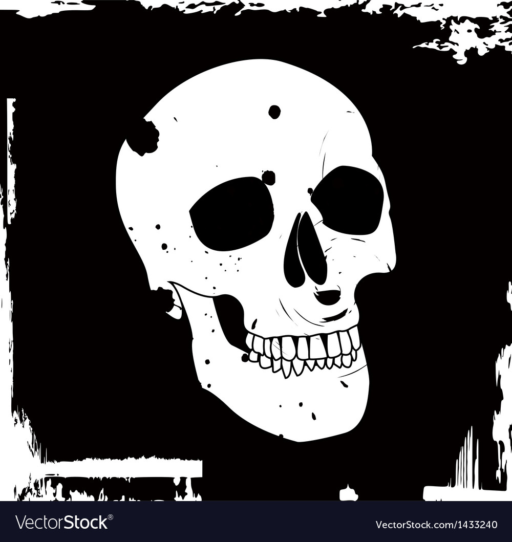Grunge skull vector | Price: 1 Credit (USD $1)