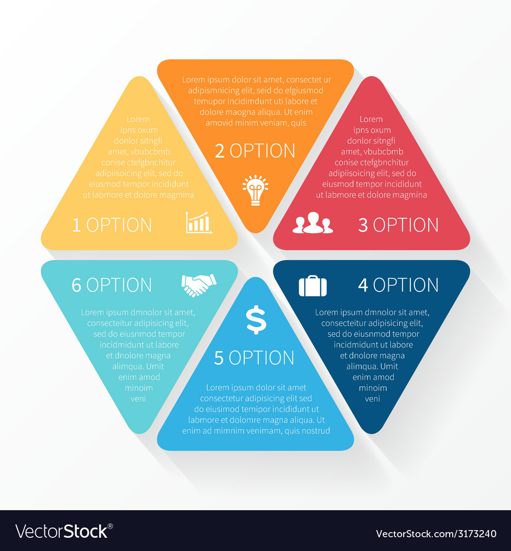 Hexagon infographic template for diagram graph vector | Price: 1 Credit (USD $1)