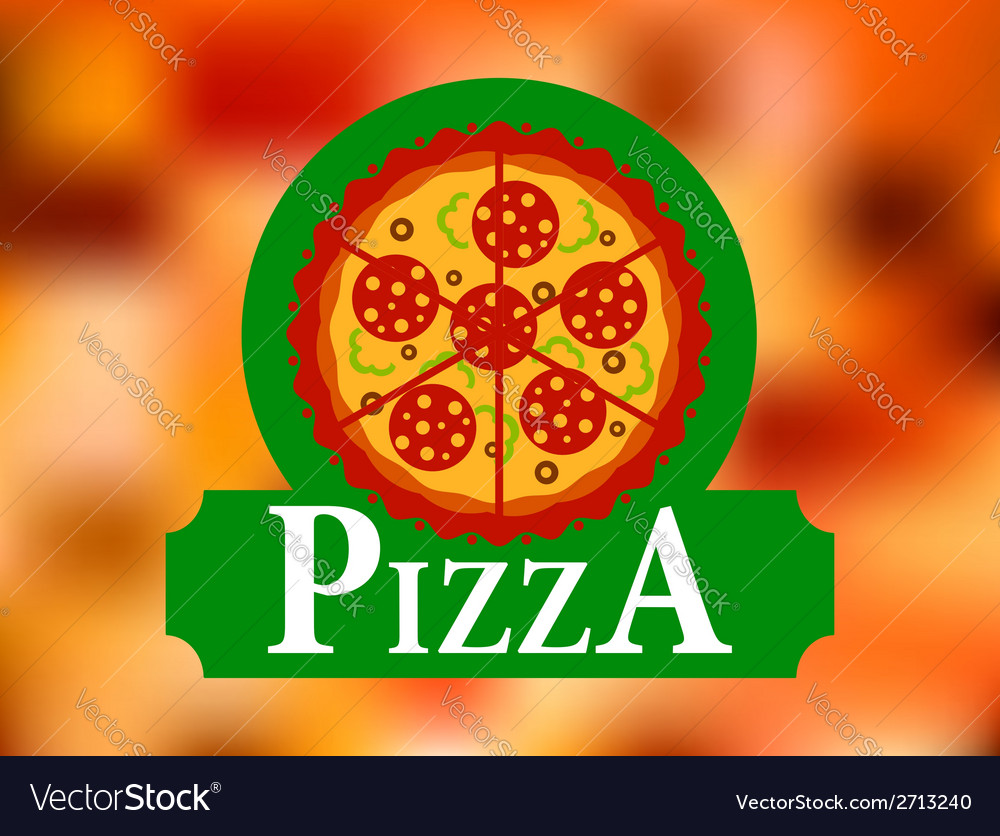 Italian pizza restaurant label vector | Price: 1 Credit (USD $1)