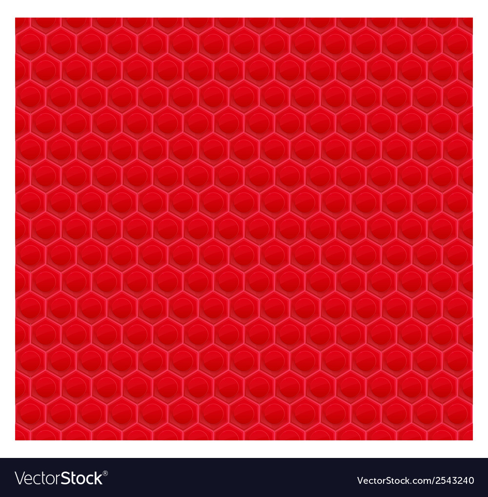 Red pattern hexagon mosaic vector | Price: 1 Credit (USD $1)