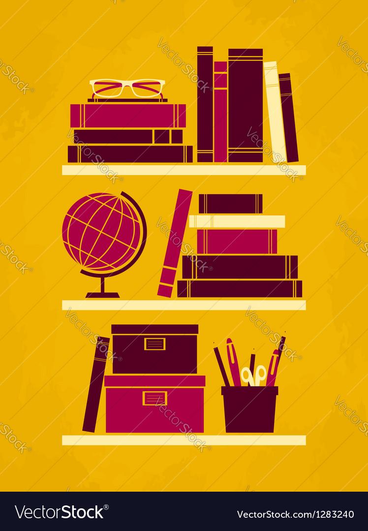 Retro office poster vector | Price: 1 Credit (USD $1)