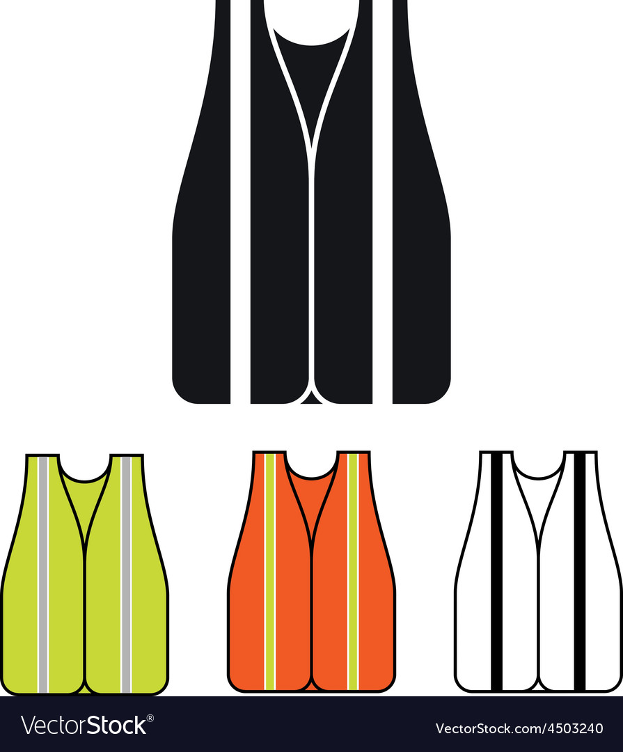 Safety vest icon vector   Price: 1 Credit (USD $1)