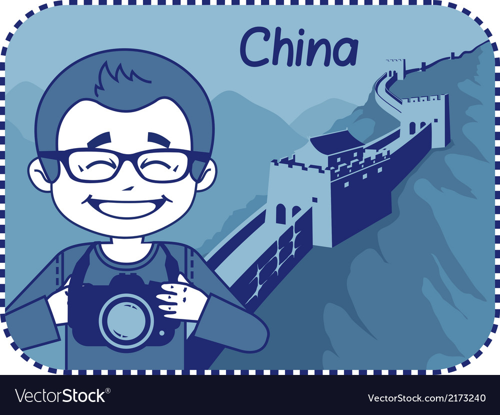 Teaser with photographer travels through china vector   Price: 1 Credit (USD $1)