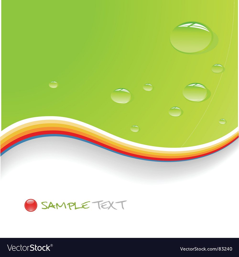 Water drops on green background vector | Price: 1 Credit (USD $1)