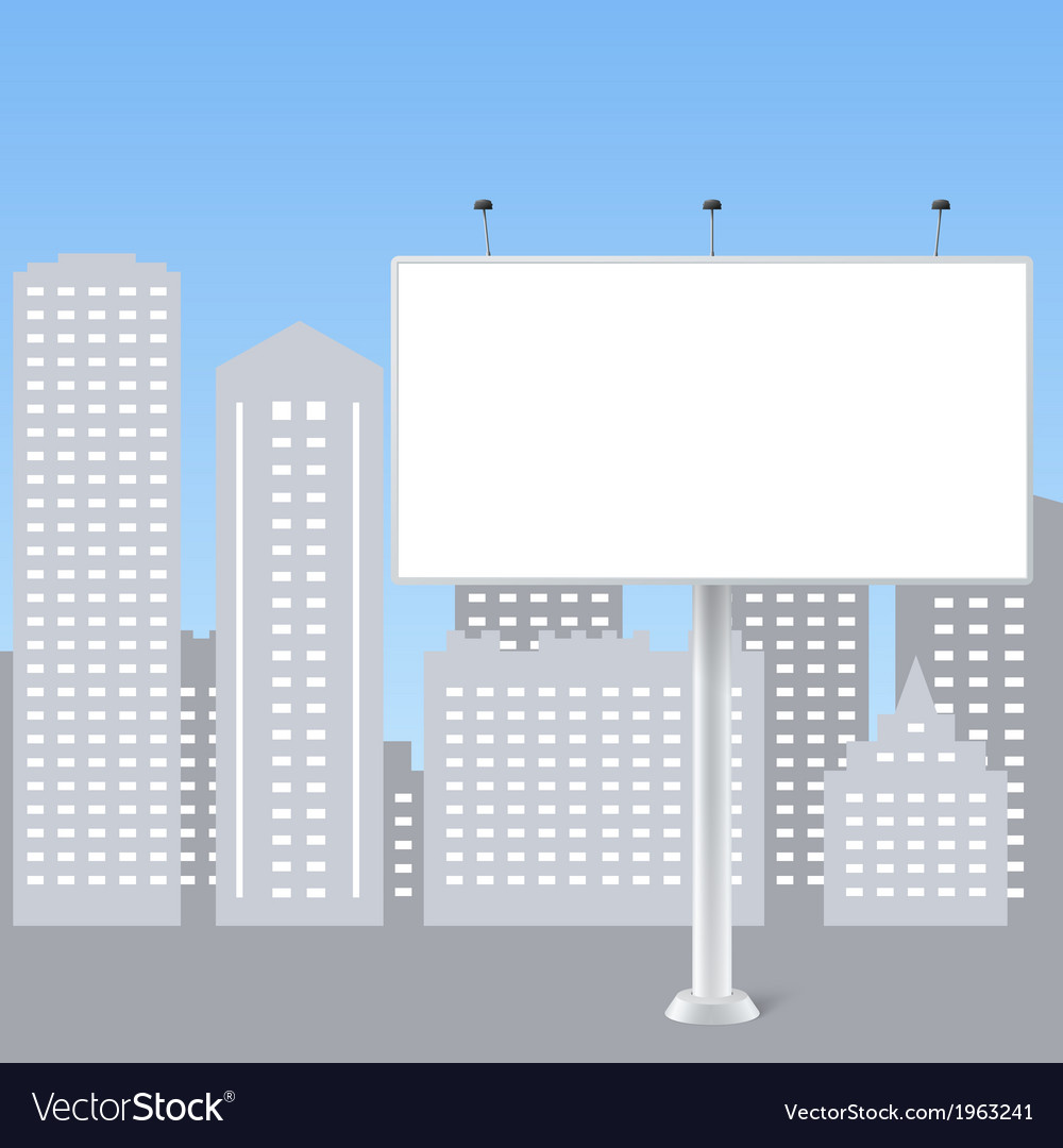 Abstract billboard on city background vector | Price: 1 Credit (USD $1)