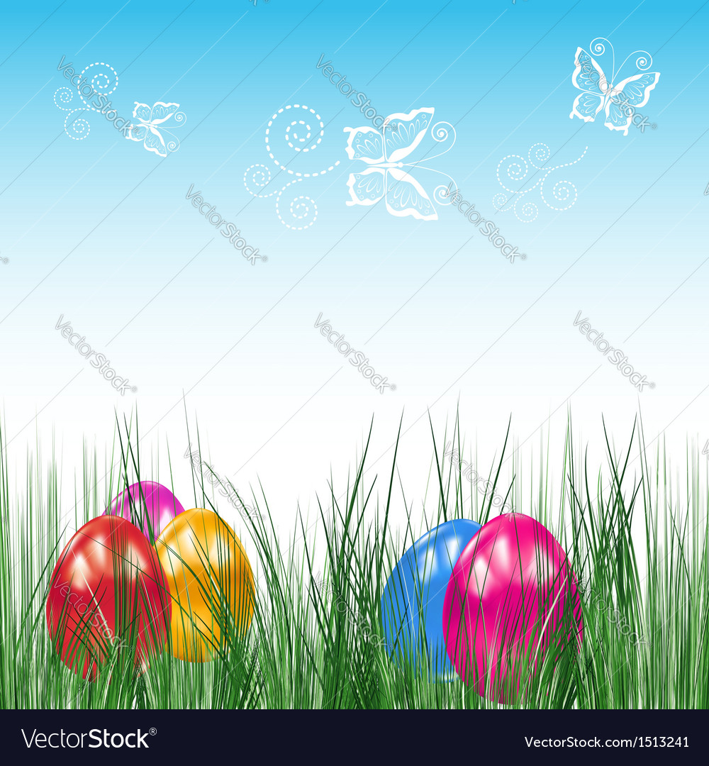 Background with easter eggs vector | Price: 3 Credit (USD $3)