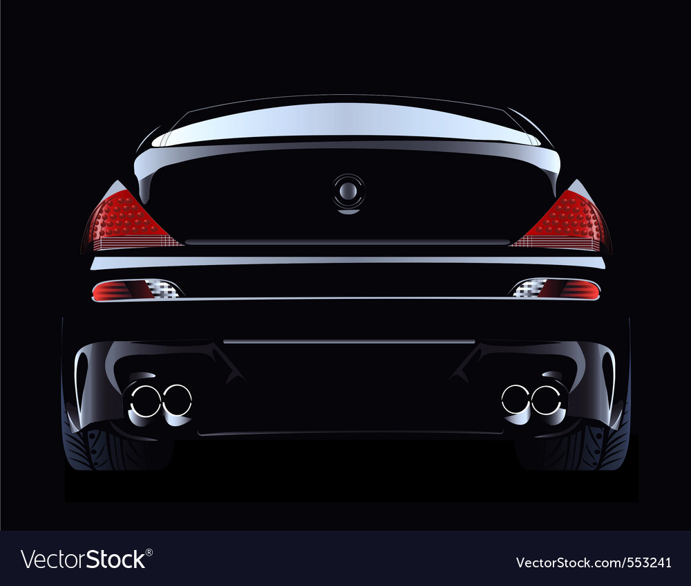 Black customized super car vector | Price: 1 Credit (USD $1)